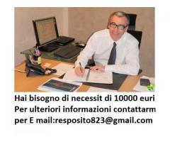 Hai bisogno di necessit di 85.000 eurii